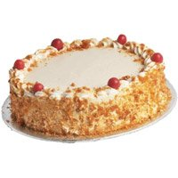 Online Eggless Cake Delivery in Delhi - Butter Scotch Cake From 5 Star