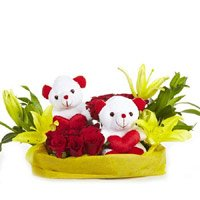 Best Gift Delivery in Delhi - Rose Lily Teddy