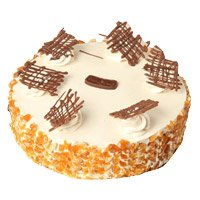 Eggless Cakes to Delhi - Butter Scotch Cake From 5 Star