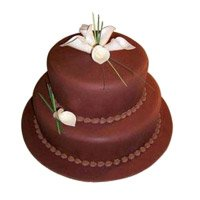 Eggless Birthday Cakes to Delhi - Tier Chocolate Cake