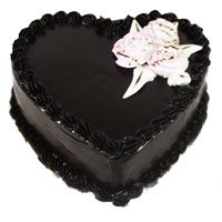 Deliver Eggless Cakes to Delhi - Chocolate Truffle Heart Cake