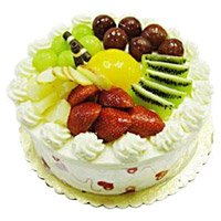 Online Birthday Cakes Delivery to Delhi - Fruit Cake From 5 Star