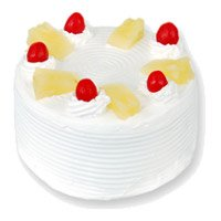Eggless Birthday Cake Delivery in Delhi - Pineapple Cake