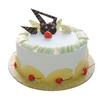 Deliver Birthday Cakes to Delhi - Pineapple Cake From 5 Star