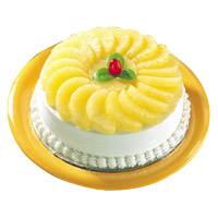 Send Cakes to Delhi - Pineapple Cake From 5 Star