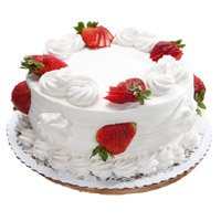 Send Online Birthday Cakes to Delhi - Strawberry Cake From 5 Star