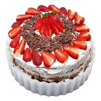 Wdding Cake Delivery in Delhi - Strawberry Cake From 5 Star