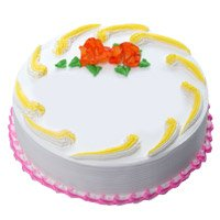 Send Eggless Cakes to Delhi - Vanilla Cake