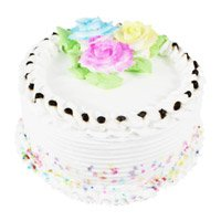 Deliver Birthday Eggless Cakes to Delhi - Vanilla Cake