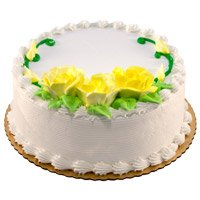 Online Birthday Eggless Cake in Delhi - Vanilla Cake From 5 Star